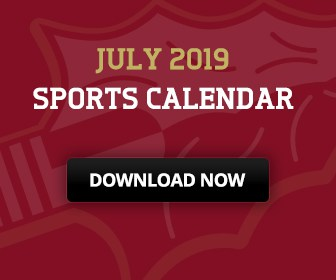 Download the July 2019 Sports Calendar