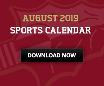 Download the August 2019 Sports Calendar